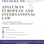 'Avrupa Hukuku ve Uluslararası Hukukta Sığınma' Eğitimi